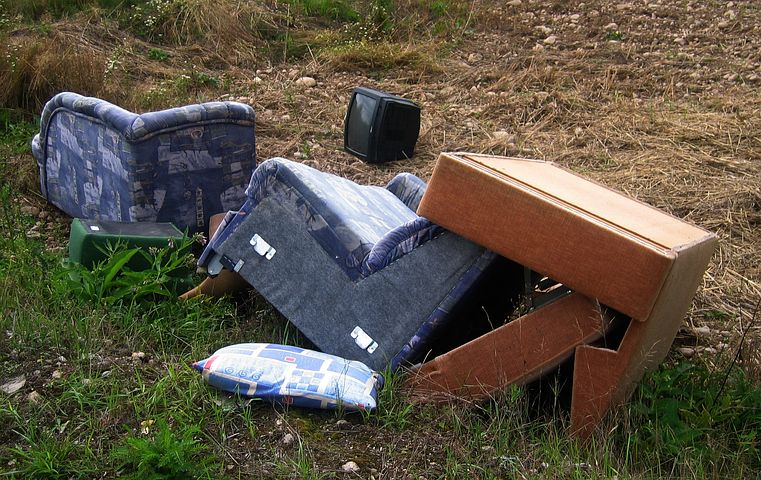unwanted items disposed on the street